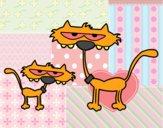 Gatos: Pai e filho