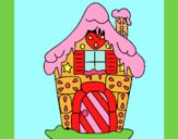 Desenho Casa de caramelo pintado por marilurdes