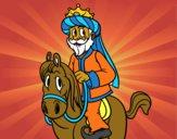 Gaspar a cavalo