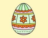 Desenho Ovo de páscoa com decorações pintado por BetaMarcus