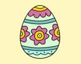 Desenho Ovo de páscoa com flores pintado por BetaMarcus
