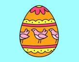Desenho Ovo de páscoa com pássaros pintado por BetaMarcus