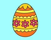 Desenho Ovo de páscoa floral pintado por BetaMarcus