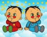 Crianças gêmeos