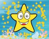 Estrela do mar sorridente