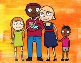 Desenho Família unida pintado por janapiires