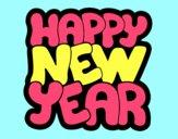 Desenho Feliz ano novo pintado por BetaMarcus