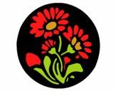 Gravado com flores