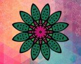 Mandala flores com pétalas