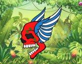 Tatuagem de caveira com asas