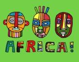 Desenho Tribos da África pintado por Georgea