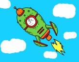 Um foguete espacial