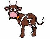 Desenho Vaca pintado por Rachel