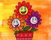 Desenho Vaso de flores pintado por dayameurer