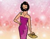 Desenho A mulher barbada pintado por janapiires