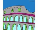 Desenho Coliseu pintado por nicholas14