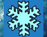 Desenho Copo de neve pintado por Olaf