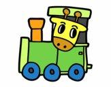 Trem com girafa