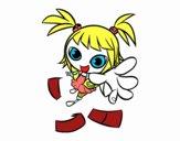 Uma menina manga