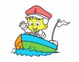 Desenho Barco e capitão pintado por Marcello_B