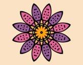 Desenho Mandala flores com pétalas pintado por Lemaro