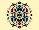Desenho Mandala simétrica pintado por Lemaro