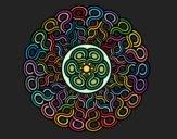 Desenho Mandala trançada pintado por Lemaro