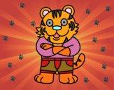 Tigre vestido