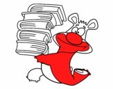 Urso com livros
