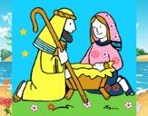 Adoram o menino Jesús