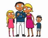 Desenho Família unida pintado por Raynanah