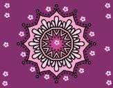 Mandala flor de neve