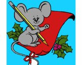 Rato com lápis e papel