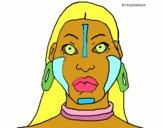 Desenho Mulher maia pintado por Satiro