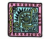 Desenho Símbolo Maia pintado por inhapa