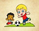 Desenho Futebol durante o recreio pintado por jessica99