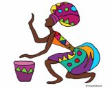 Mulher com tambor
