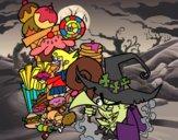 Desenho Gretel ea bruxa pintado por ImShampoo