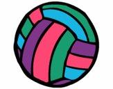 Desenho Bola de voleibol pintado por Kirinha