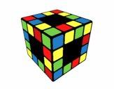 Desenho Cubo de Rubik pintado por Kirinha