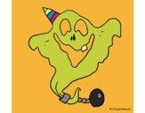 Fantasma com chapéu de festa