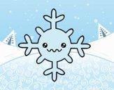Desenho  Floco de neve kawaii pintado por ImShampoo