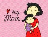 Desenho I love my mom pintado por SasuSaku
