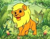 Desenho O rei da selva pintado por luzinda