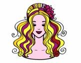Penteado com flor