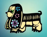 Desenho Signo do Cão pintado por luzinda