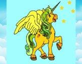 Unicórnio com asas