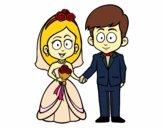 A noiva eo noivo.