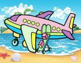 Desenho Avião levando bagagem pintado por hadzip7