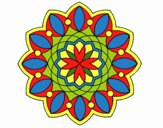 Desenho Mandala 3 pintado por Dhayanna